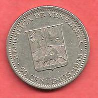 50 Centimos , VENEZUELA , Nickel , 1965 , N° KM # 41 - Venezuela
