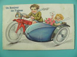 ST/240- BELGIQUE- FURNES - SIDE-CAR (MOTO) - Système Avec 8 Vues (complet?) Années 50 - Belgique