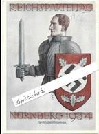 Propaganda, Hitler, Nazi, Drittes Reich, Hakenkreuz, Swastika, Propagandakarte, Reichsparteitag Nürnberg - Weltkrieg 1939-45