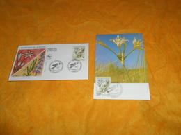 ENVELOPPE FDC + CARTE POSTALE 1ER JOUR DE 1992. / PROTECTION DE LA NATURE LYS DE MER ...CACHETS NANTES + TIMBRE - FDC