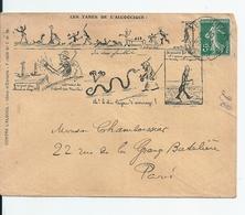 Enveloppe Illustrateur /Lettre Illustrée Satirique Et Publicitaire: Lutte Conte L'Alcool Et Ses Tares - France
