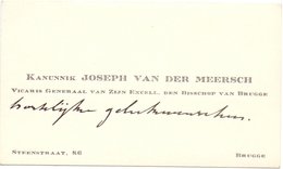 Visitekaartje - Carte Visite - Kanunnik Joseph Van Der Meersch -  Brugge - Cartes De Visite