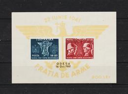 1941 - Fraternité Des Armes / ODESA  Mi Block 18 MNH - 1918-1948 Ferdinand, Carol II. & Mihai I.