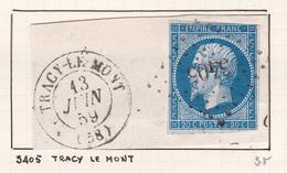 France - PC 3405 - Tracy-le-Mont - Oise - Marcophilie (Timbres Détachés)