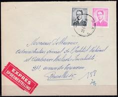 1067 + 1071 Met Stempel Liege X Op Express - 1953-1972 Lunettes