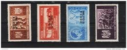 1941 - Frères D'armes Germano-roumain Avec Surchages ODESA Mi No 712/715 - 1918-1948 Ferdinand, Carol II. & Mihai I.