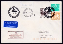"""SCHWEDEN, Arctic 1996, Icebreaker """"ODEN"""", Cachet + Paquebot Tromsö, (to Northpole ?),look Scan !! 24.6-91 - Sonstige"""