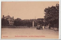 CPA- ROMILLY-sur-SEINE- La Grille Et L'Avenue Du Château -dép10-2scans - Romilly-sur-Seine