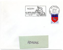 LOIRE ATLANTIQUE - Dépt N° 44 = NOZAY 1968 = FLAMME SUPERBE = SECAP Illustrée  'MOTO-CROSS Dernier Dimanche De Mai' - Postmark Collection (Covers)