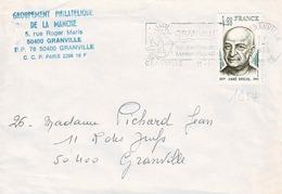 TP N° 1954 Seul Sur  Enveloppe  De Granville - 1961-....