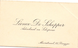 Visitekaartje - Carte Visite - Advocaat & Schepen - Léonce De Schepper - Brugge - Cartes De Visite