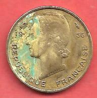 5 Francs , Afrique Occidentale Française - AOF , Alu-Bronze , 1956 , N° KM # 5 - Colonies
