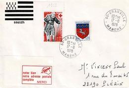 TP N° 1959 Et 1510 Sur  Enveloppe  De Granville - Marcophilie (Lettres)