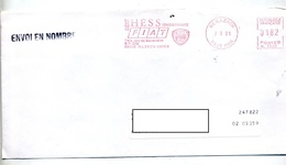 Lettre Flamme Ema Illzach Garage Hess Fiat - Marcophilie (Lettres)