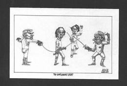 POLITIQUE DU QUÉBEC - RENÉ LÉVESQUE - THE GENTLEMAN COURT - CARICATURE - Personnages