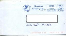 Lettre Flamme Ema Issenheim Institut Champagnol  Coeur Sans Frontiere - Marcophilie (Lettres)