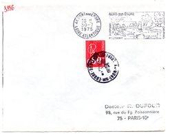 LOIRE ATLANTIQUE - Dépt N° 44 = NORT Sur ERDRE 1975 = FLAMME à DROITE = SECAP Illustrée 'HIPPISME CAMPING' - Postmark Collection (Covers)