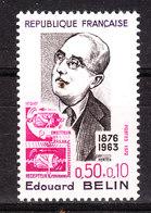 Francia - 1972. Edouard Bélin, Inventore Del Bélinographe, Antenato Del Fax. Fax Prototype. MNH - Telecom