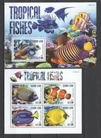 VV353 2015 SIERRA LEONE TROPICAL FISH & MARINE LIFE 1KB+1BL MNH - Vie Marine