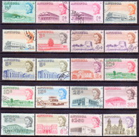 ANTIGUA 1969 SG #180a-195a Compl.set Used Perf.13½ Incl. Stamps On Both Papers CV £42.75 - Antigua & Barbuda (...-1981)