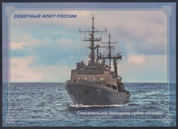 """RUSSIA 2018 ENTIER POSTCARD 273/1 Mint RESCUE TOW TUG BOAT SHIP """"Altay"""" NORTH NAVY NAVAL ARCTIC POLAR NORD MILITARY R263 - Militaria"""
