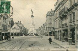 CPA -  REIMS - RUE DE L'ETAPE ET FONTAINE SUBE - Reims