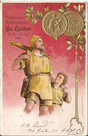 SUISSE  /  ST.  GALLEN  -  Eidgenöss  Schützenfest  Juillet  1904  /  Archer  /  Médaille Gaufrée  Tir - SG St. Gall