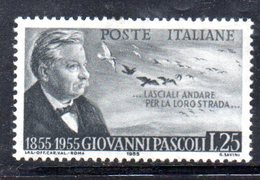 XP2077 - REPUBBLICA 1955  Pascoli , N. 792/I  Nuovo ** Filigrana Stelle II Dx - 6. 1946-.. Repubblica