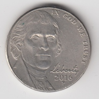 @Y@   United States Of America  5 Cents   2016     (3022  ) - Émissions Fédérales