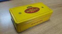 Empty Metal Box Tin Can Bristol Virginia Bremen Germany Tobacco Cigaretes Blechdose Tabak Deutschland - Contenitori Di Tabacco (vuoti)