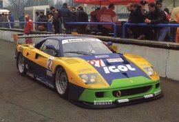Ferrari F40  - Pilotes: L.Della Noce/A.Olafsson - Monza 1000kms 1996 -  Carte Postale - Le Mans