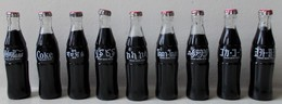 - RARE - Collection Complète Des 9 Mini Bouteilles COCA COLA. Année 80 - - Bouteilles