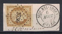 RARE OBLITERATION 3736 De SIDI-BEL-ABBES (ALGERIE BFE) Sur CERES N° 1 Sur PETIT FRAGMENT - 1849-1850 Ceres