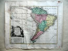 America Meridionalis Grande Carta Geografica Lotter Augusta 1740 Geografia - Altre Collezioni