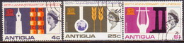ANTIGUA 1966 SG #196-198 Compl.set Used UNESCO - Antigua & Barbuda (...-1981)