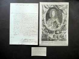Autografo Eugenio Di Savoia Lettera Firmata Vienna 3/11/1728 Principe S. Croce - Autógrafos