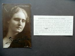 Autografo Elisabetta Di Romania Regina Di Grecia Fotocartolina 1919 Reali - Autographes
