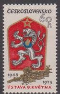 Czechoslovakia Scott 1883 1973 25th Anniversary Of The Constitution, Mint Never Hinged - Czechoslovakia