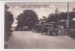 """CPA  ST GEORGES De DIDONNE  Pres ROYAN 17 :   Route Du Port  """" Chez Tartes Aux Prunes """"  1930? - Saint-Georges-de-Didonne"""