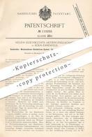 Original Patent - Helios Elektrizitäts- AG , Köln / Ehrenfeld , 1897 , Wechselstrom - Gleichstrom System Für Straßenbahn - Historische Dokumente