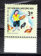 Vietnam  - 1990. Allevamento Polli. Breeding Chickens., Whit  Red Cross Symbol. MNH - Alimentazione