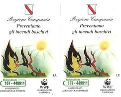 NUOVE-(Mint)--534/35-TELECOM ITALIA COPPIA PREVENIAMO GLI INCENDI-2 SCHEDE-5.000/10000 - Public Practical Advertising