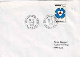 TP N° 1991 Sel Sur Enveloppe Avec Cachet Avranches B - 1961-....