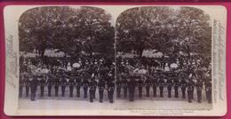 ROYAUME-UNI 028  La Reine,Le Prince De Galles, Duc De Cambridge Laissant Le Palais Buckingham, Jubilé Diamant 22.6.1897 - Stereoscopio