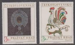 Czechoslovakia Scott 1937-1938 1974 Prague Castle Art, Mint Never Hinged - Czechoslovakia