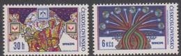 Czechoslovakia Scott 1945-1946 1974 BRNO 74 Stamp Exhibition, Mint Never Hinged - Czechoslovakia