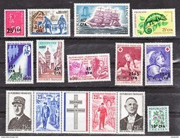 Réunion 1971 Année Complète Poste Et Taxe Neuf ** TB MnH Sin Charmela Cote 25 - Réunion (1852-1975)