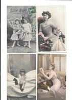 11079 - Lot De 200 CPA Fantaisies, Hommes, Femmes, Enfants, - Cartes Postales