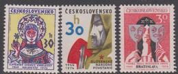 Czechoslovakia Scott 1947-1949 1974 Anniversaries, Mint Never Hinged - Czechoslovakia