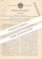 Original Patent - Wilhelm Kühlhorn , Magdeburg , 1898 , Abdampf - Druckregelungsventil Für Dampfmaschine Mit Kondensator - Historische Dokumente
